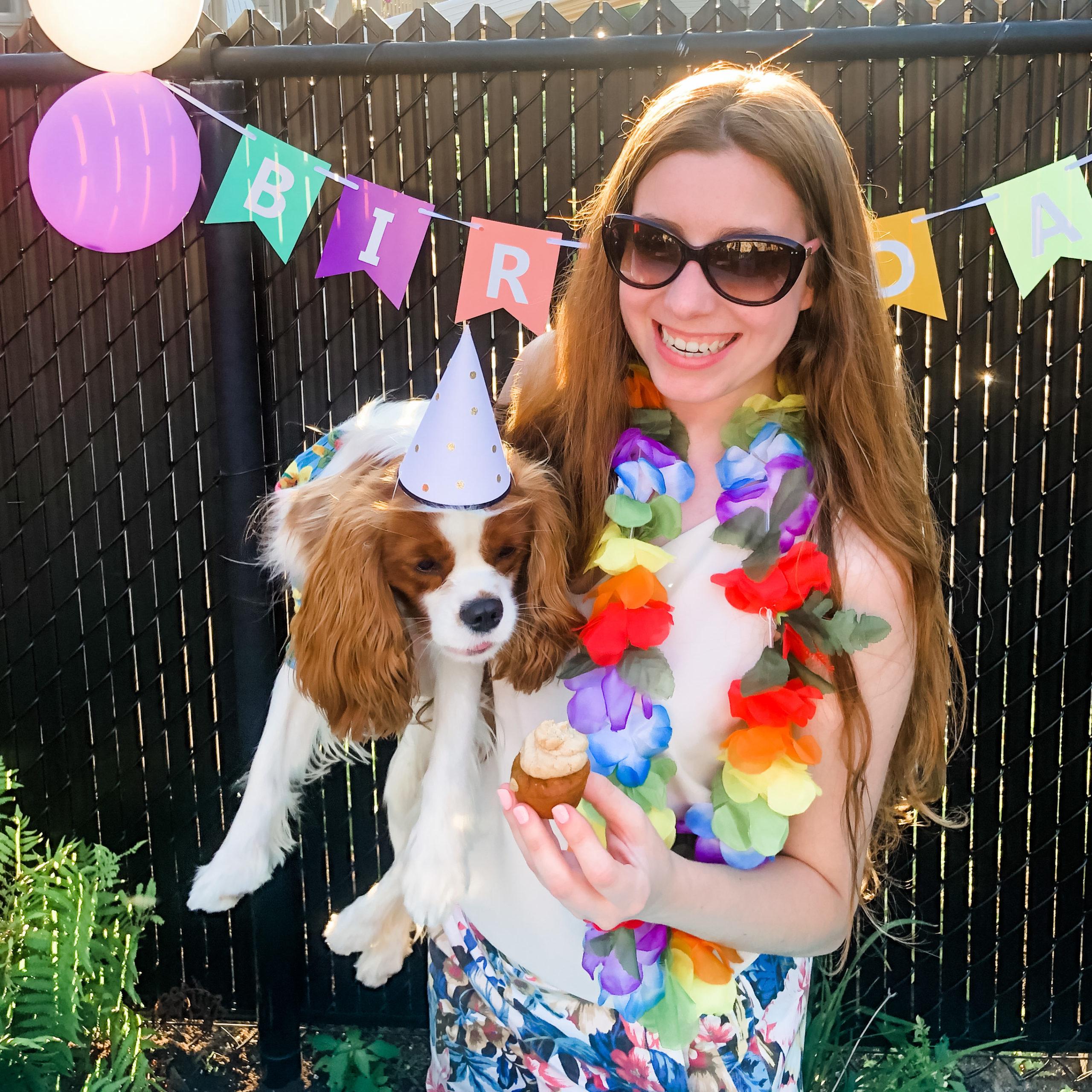 Dog Mom and Cupcake