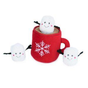 Hot Cocoa & marshmallow burrow dog toy